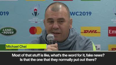 'Fake news'! Cheika laughs off claims about England selection for RWC quarter-final against his A...