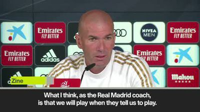 'Real will play whenever' Zidane on postponed 'Clasico'