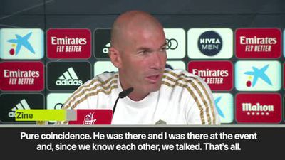 'Pure coincidence' Zidane on meeting Pogba