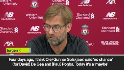"""I don't believe Pogba and De Gea are out,"" says Klopp over United injuries"