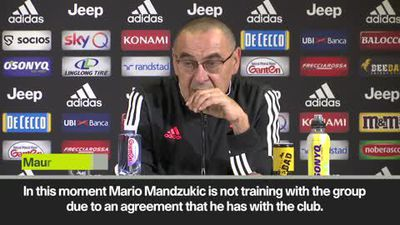 Sarri confirms Mandzukic is not training with Juventus