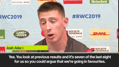 Wales comfortable with favourites tag says Adams ahead of RWC quarter-final against France