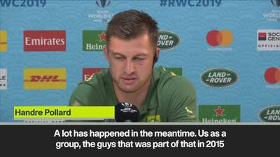Four years ago 'a completely different story' says Pollard of South Africa's 2015 loss to Japan