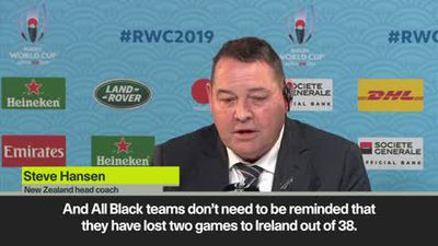 Hansen full of respect for Ireland after NZ power into semi-final clash against England