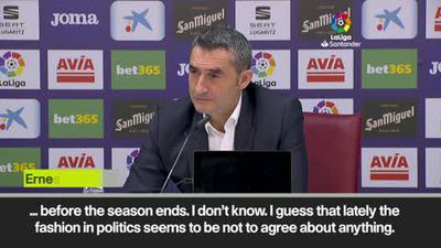 Politics don't agree with anything - Valverde on finding a new date for El Clasico