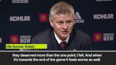'Man Utd deserved more than a point against Liverpool' Solskjaer