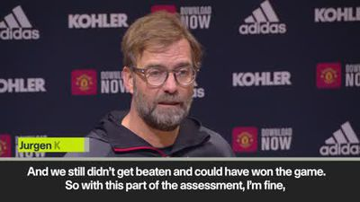 Klopp 'happy with the point, but not with Liverpool's performance'