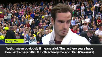 'I didn't expect it at all' Murray comes from a set down to bt Wawrinka in Antwerp final