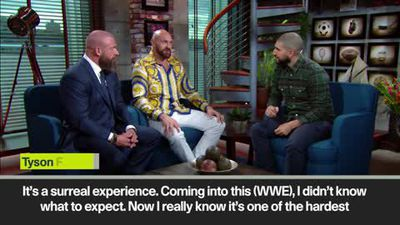 Fury says thrill of WWE debut is 'like a first date'