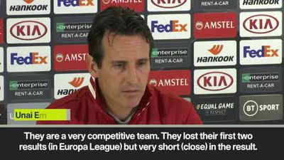 Arsenal face the media before Europa League meeting with Vitoria SC