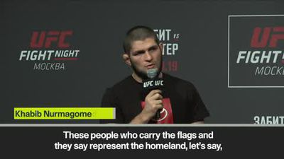'I don't beat old people' - Khabib appears to mock McGregor at UFC event