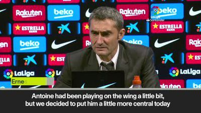 'A weak game', says Valverde as Barca beat Celta 4-1 to replace Real at top