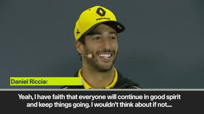 Ricciardo jokes that can't sing if he had to switch careers from F1