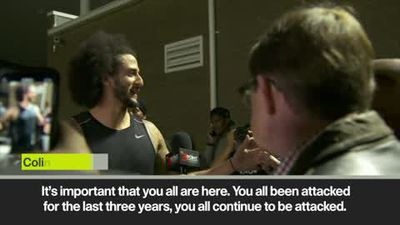 'I've been ready for three years, I've been denied for three years' Kaepernick comments after his...