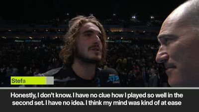 """I am relieved!' Tsitsipas after winning ATP Finals"