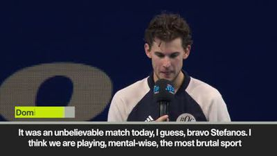 'You are an amazing player' Thiem praises Tsitsipas after ATP FInals win