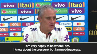 Tite 'not desperate' to end Brazil's winless streak