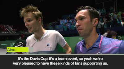 Kukushkin & Bublik react after Kazakhstan's Davis Cup win vs. Netherlands