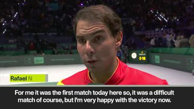 Nadal 'very happy' after win against Khachanov in Davis Cup