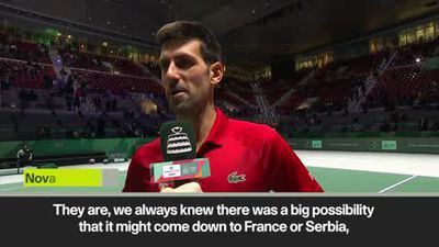 Djokovic looks ahead to tough Davis Cup tie against France after win over Japan