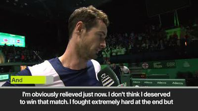 Andy Murray admits that he didn't deserve to win Davis Cup match