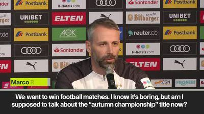 Leaders 'Gladbach don't care about 'autumn Bundesliga title' says coach Marco Rose