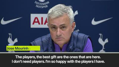 'I don't need new players' Mourinho