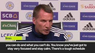 """We must stay focused and calm"" says Rodgers as high-flying Leicester prepare to face Brighton"