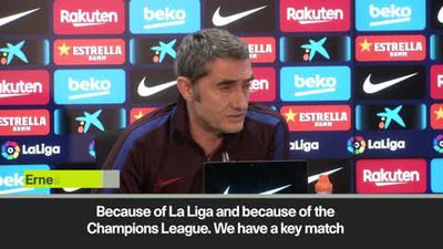 Valverde wary of tough Barcelona schedule in La Liga and UCL