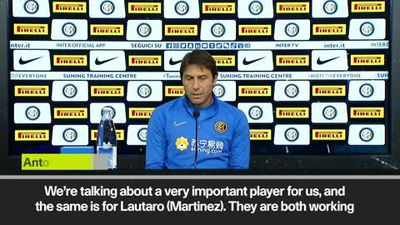 'Lukaku and Martinez are doing an excellent job' - Conte praises Inter forwards
