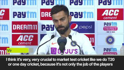 'We must market test cricket like T20' Kohli after India beat Bangladesh by an innings and 46 runs