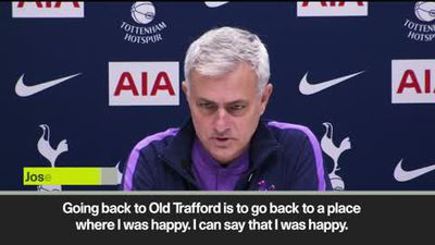 "Mourinho - ""Old Trafford is a place where I was happy"""