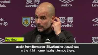 Guardiola praises Jesus after scoring brace in Man City win at Burnley