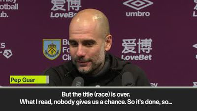 'The title race is over, it's done' - Guardiola despite win at Burnley