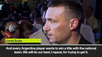"We have the ""basis to reach the final"" says Argentina's Scaloni after Copa America draw"