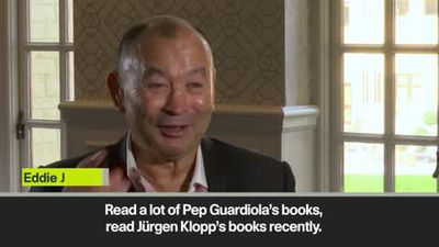 'I'm in great admiration of Guardiola & Klopp' - England rugby coach Eddie Jones