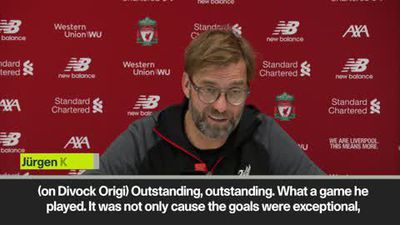 Origi was 'outstanding' - Klopp after Merseyside derby win
