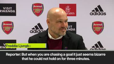 'I actually don't know why Aubameyang ran off!' Ljungberg