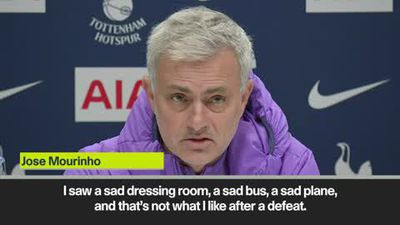 """You have to be angry after a defeat"" says Mourinho after Man Utd loss"