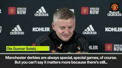 'Manchester derby doesn't matter more than Spurs' says Solskjaer ahead of rivals clash