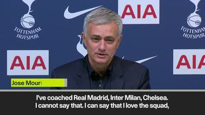 Spurs squad not 'Real Madrid, Inter Milan or Chelsea' but Mourinho insists he loves his players