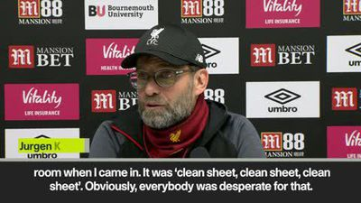 'I forgot how a clean sheet feels like!' Klopp