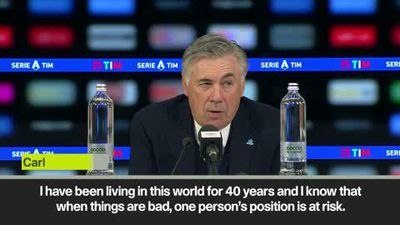 Ancelotti 'not worried about future at Napoli' after a draw with Udinese