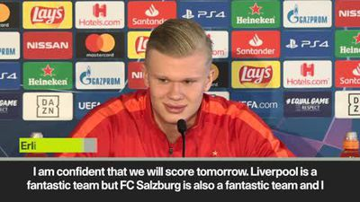 "Salzburg's Haaland ""confident"" vs Liverpool in UCL game"