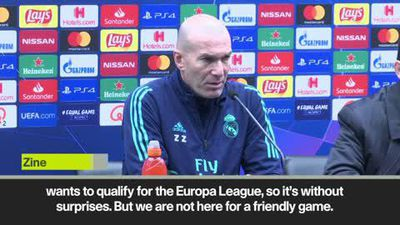 Zidane wary of Europa League incentive for Real Madrid's opponents
