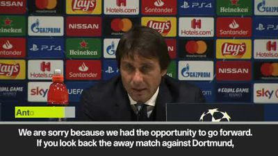 "Conte ""sorry"" as Inter Milan exit Champions League"