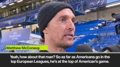 Hollywood star McConaughey praises Pulisic after Chelsea UCL win