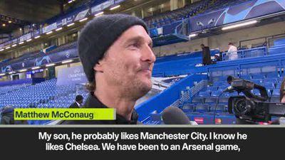 """I've been to Arsenal, but someone from Chelsea said that's not football!"" McConaughey"