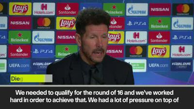 'Trippier is the best we have' Simeone on penalty miss as Atletico qualify for knockout phase