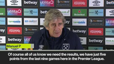 Under pressure Pellegrini urges West Ham to start picking up results ahead of match against South...